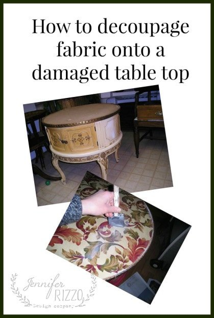 How to decoupage fabric onto furniture