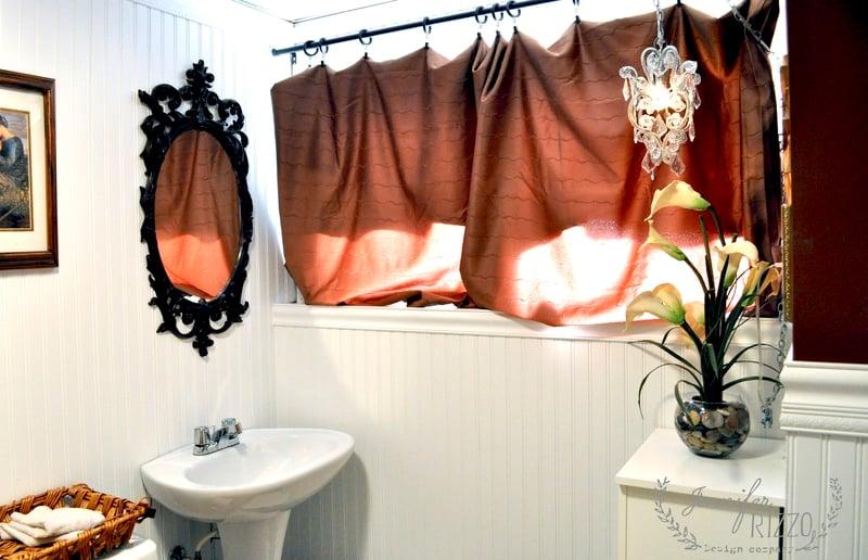 Bathroom mirror make-over