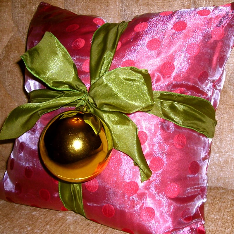 Pretty your pillows this holiday season and other fun and easy decorating ideas…….