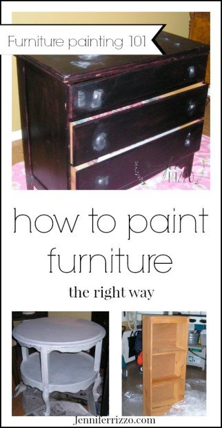 The best way to paint furniture, how to paint it the best way!
