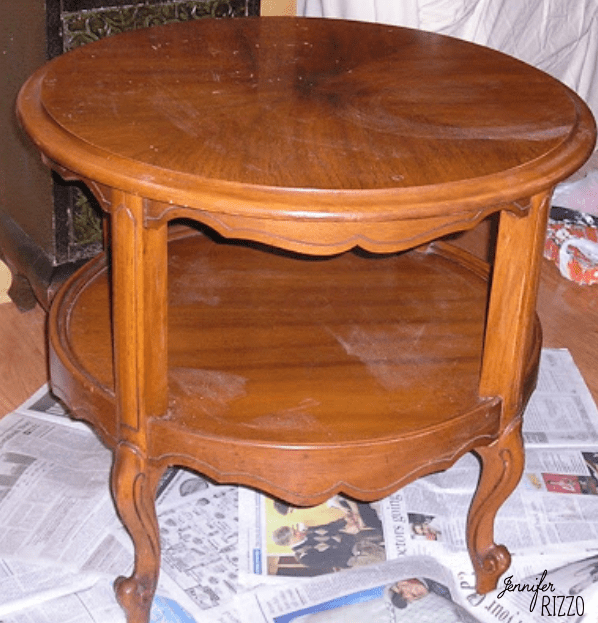 Vintage table before painting