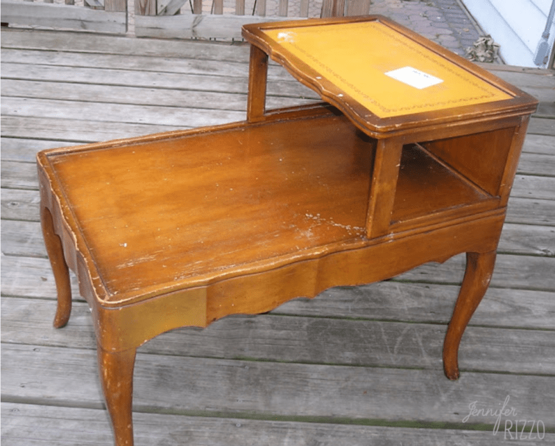 Vintage table before makeover