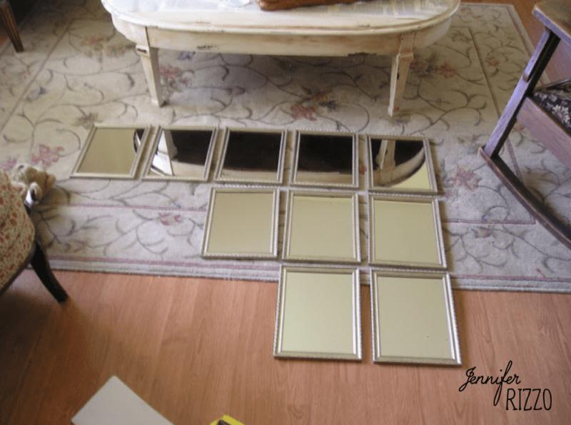 Layout dollar store mirrors
