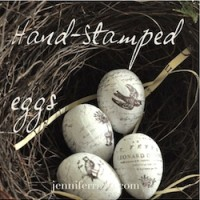 How to make hand stamped eggs