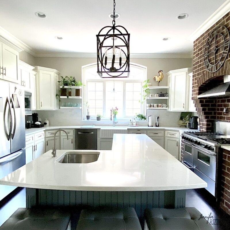 Modern farmhouse kitchen update