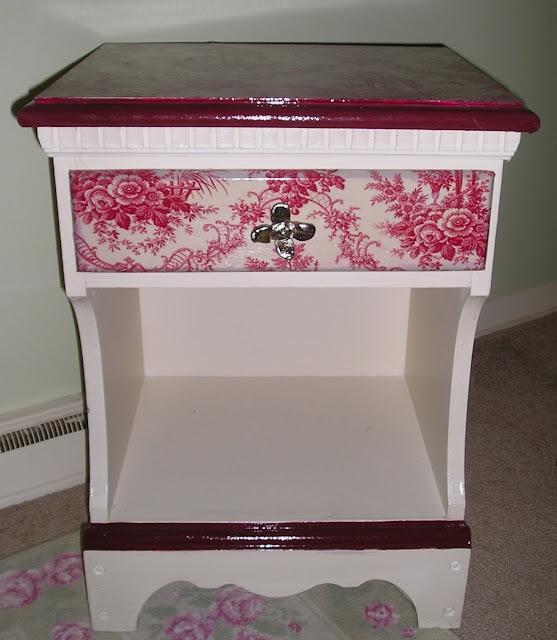 Decoupaged nightstand