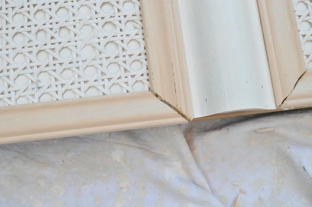 Trim and paint can update your old orangey oak furniture a rattan headboard makeover with caning and paint