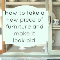 How to make a new piece of furniture look old