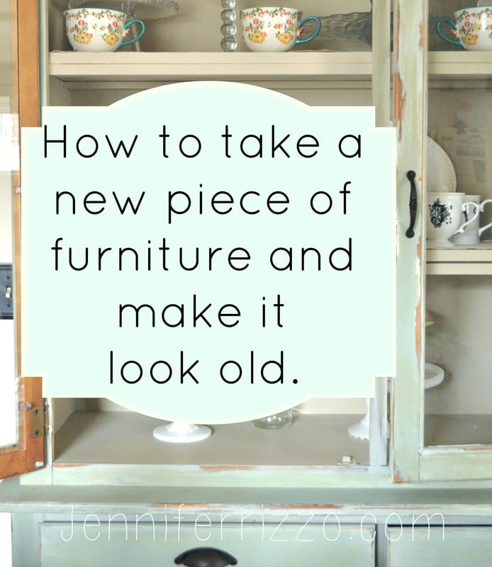 Kitchen Cabinets Look Like Furniture: How To Make A New Piece Of Furniture Look Old With Paint