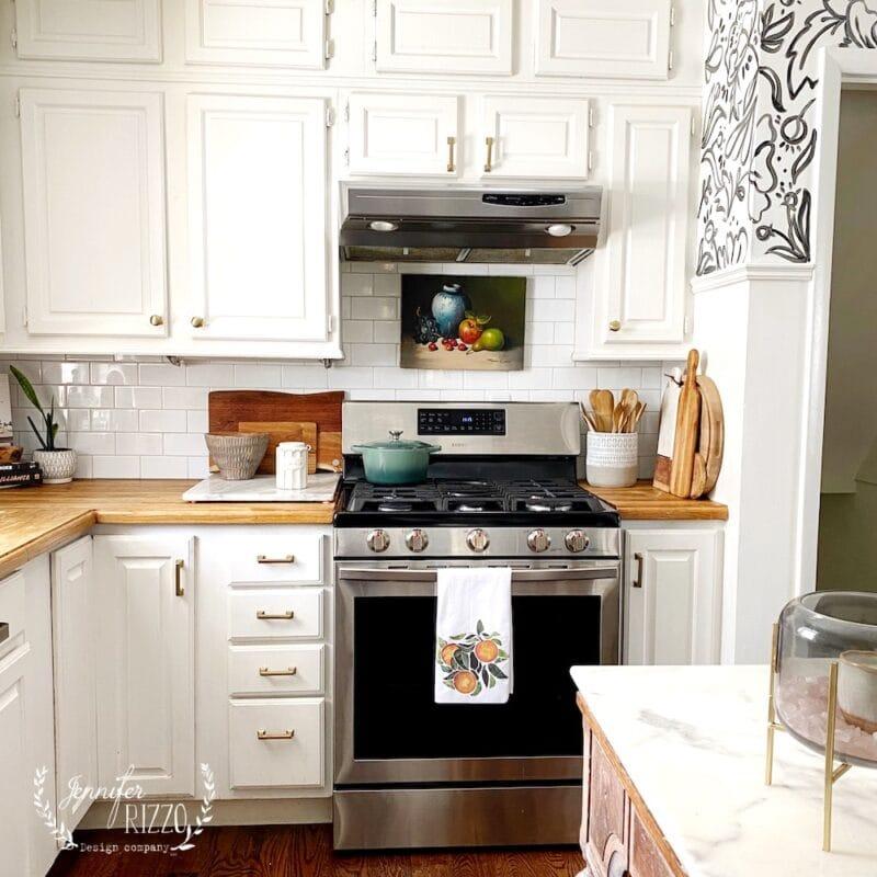 Jennifer Rizzo Kitchen White painted Cabinets