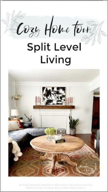 Cozy Home Tour split level living