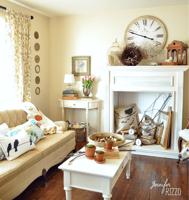Refreshed After Holiday Living Room Tour