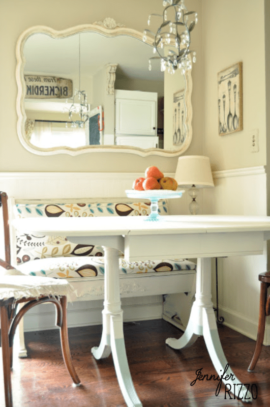 Painted table and dip dye legs…