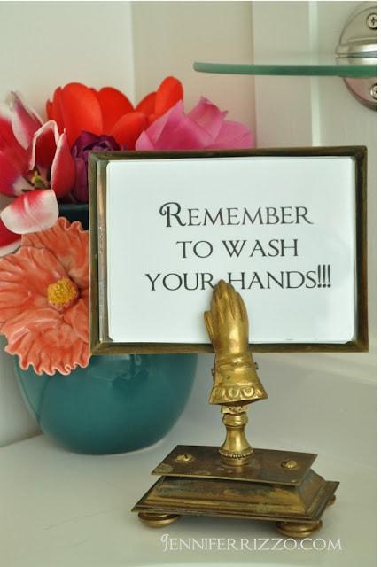 cute vintage handwashing sign