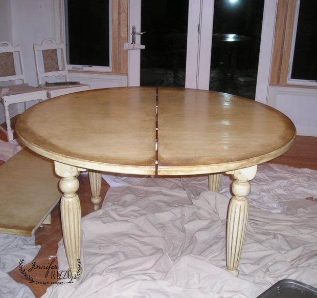 Glazed and painted table
