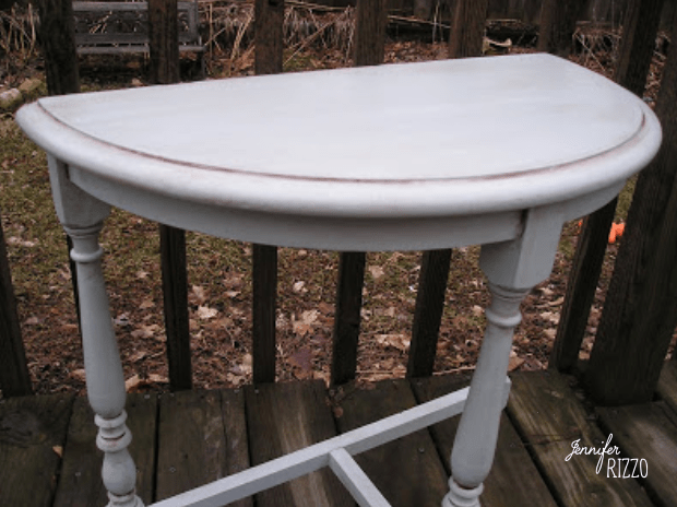 Painted blue and brown glazed table