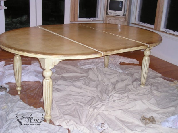 Painted and glazed table