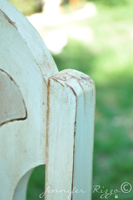 Painted and aged chairs