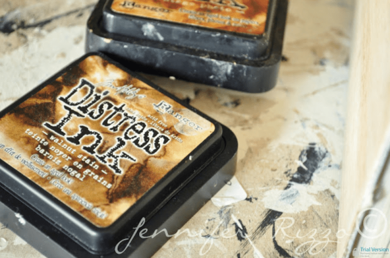 Distress ink for aging books