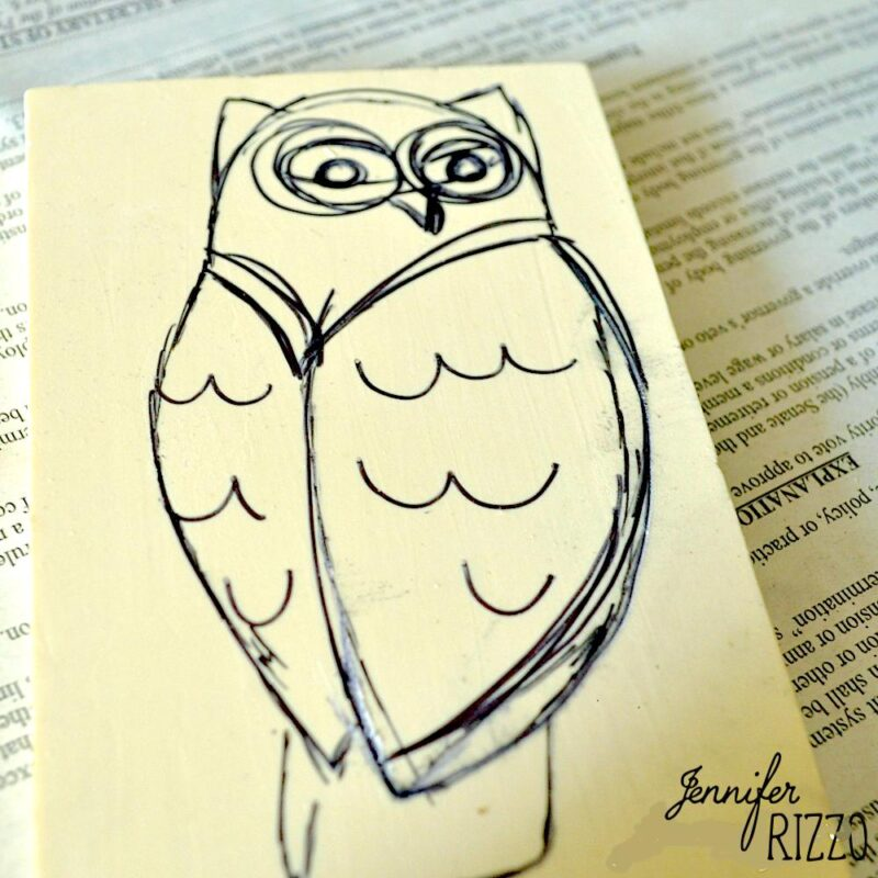 Hand carve and owl stamp