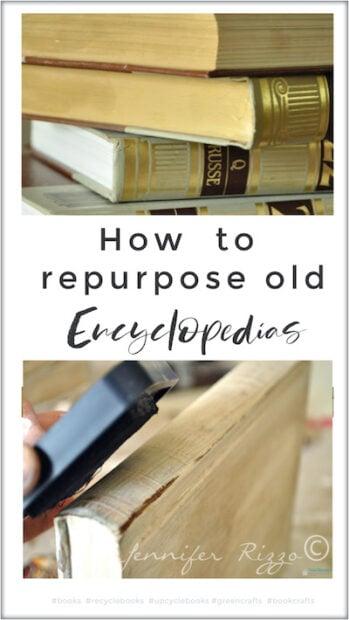 How to repurpose old encyclopedias