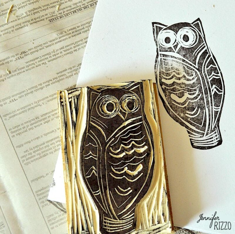 Make a custom stamp with stamp carving