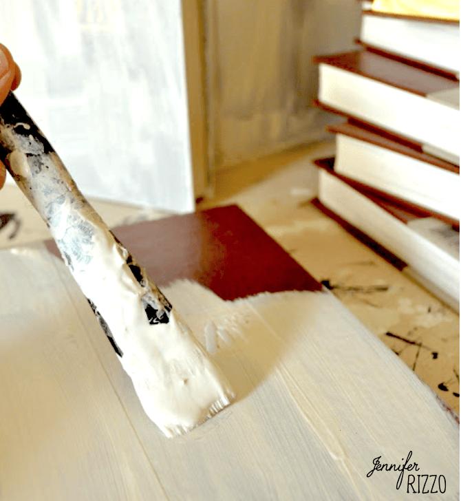 Painting an repurposing old encyclopedias