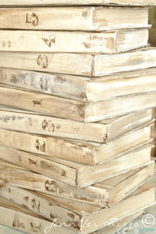 Turn encyclopedias into aged display books