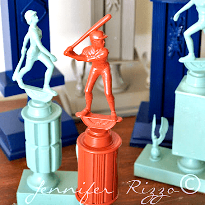 Upcycling Old Trophies with Spray Paint…
