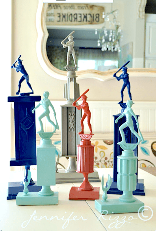 Upcycling vintage trophies for home decor