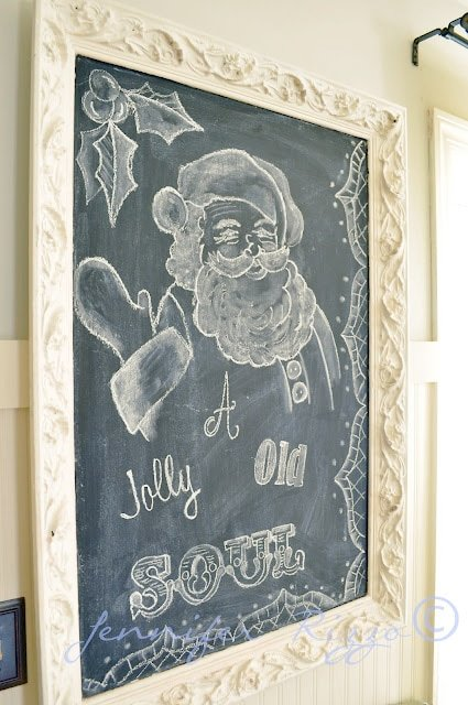 Santa claus chalk board art