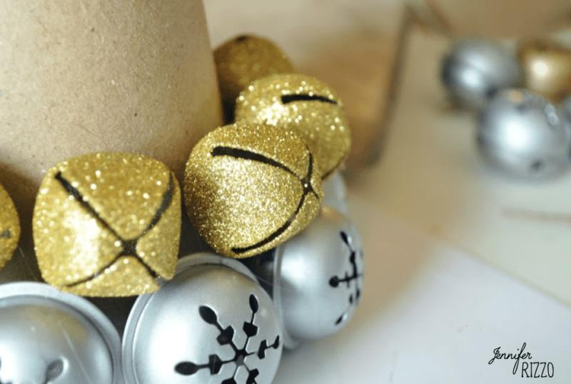 Glue jingle bells to base of cardboard cone Jennifer Rizzo