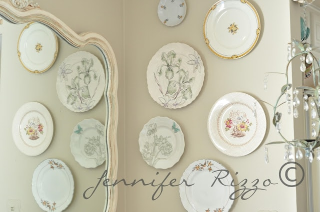 spring inspired DIYplate wall display
