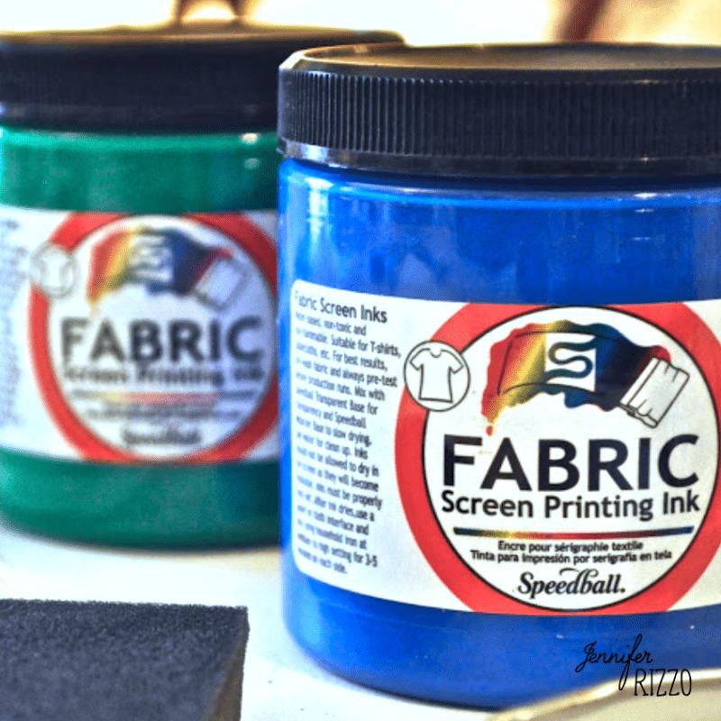 Screen printing fabric ink