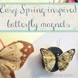 How to make butterfly magnets for a spring refrigerator…..
