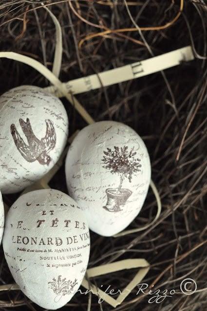 Eggs custom stamped