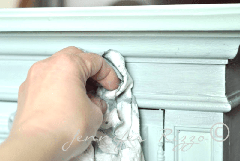 Re panting vintage furniture with a gray wash finish