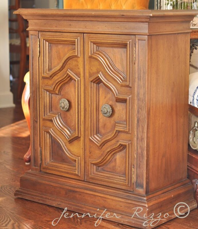 Vintage Cabinet Makeover with Gray Washing