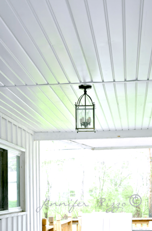 The Oak House Project:Renewing a Porch Ceiling with Fascia…..