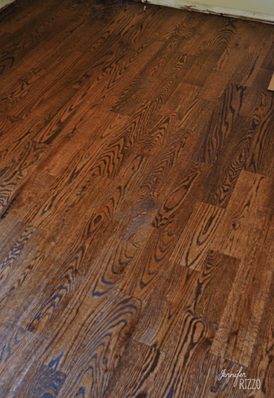 Custom stained wood floors rustic red oak