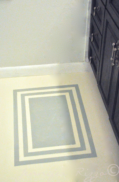 How to tape out a decorative hand painted rug to your floor