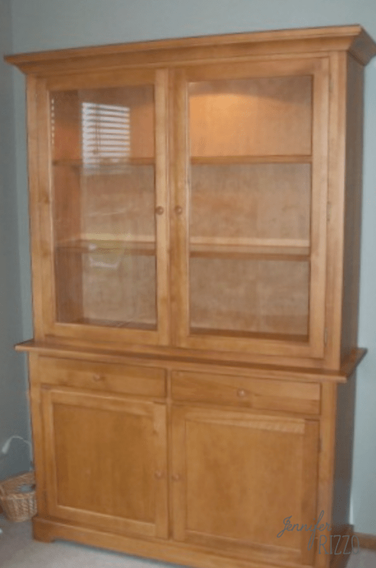 Hutch makeover before painting