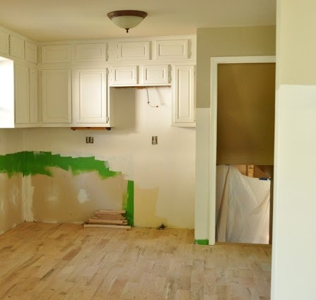 Kitchen before with painted cabinets