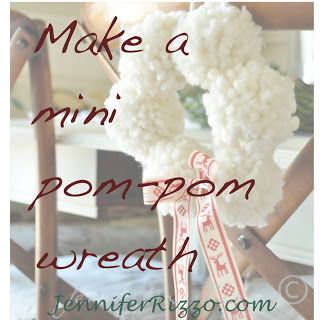 Make an Anthro-inspired mini-pom pom wreath…