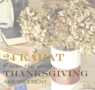 The 24 Karat (From the Yard) Spray Painted Floral Arrangement