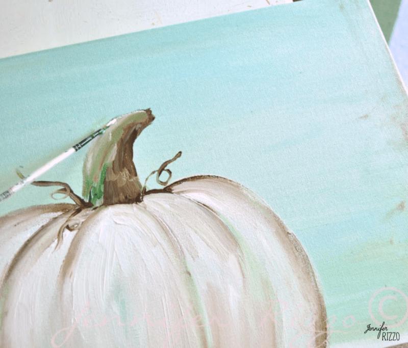 Adding highlight to a pumpkin stem