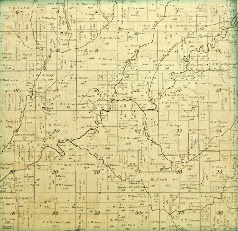 Vintage map printable for art and mixed media