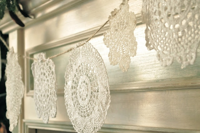 The sparkly, doily, snowflake banner….