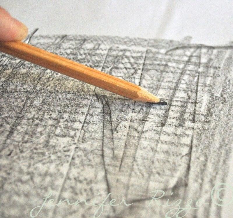 pencil transfer method