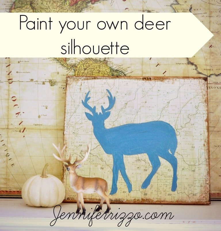 How to Paint a Deer Silhouette….